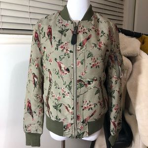 Alpha Industries Embroidered Bird Bomber Jacket S